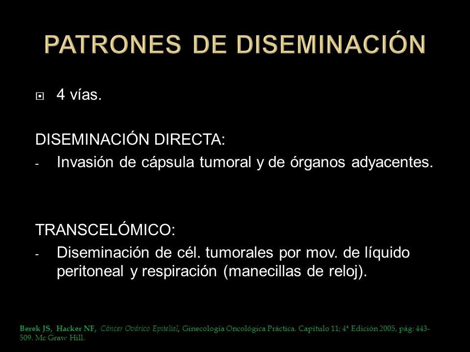 PATRONES DE DISEMINACIÓN