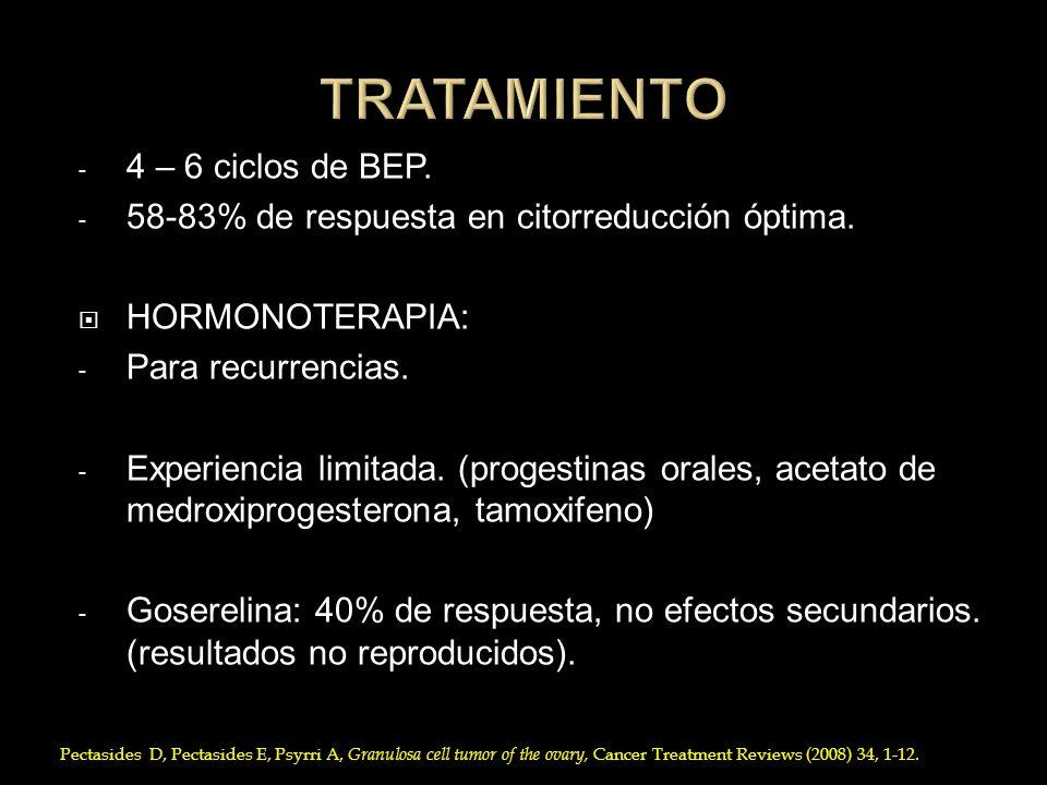 TRATAMIENTO 4 – 6 ciclos de BEP.