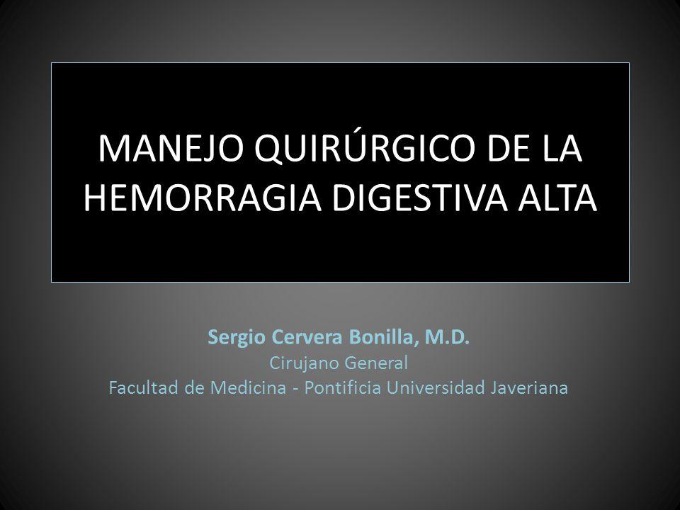 MANEJO QUIRÚRGICO DE LA HEMORRAGIA DIGESTIVA ALTA