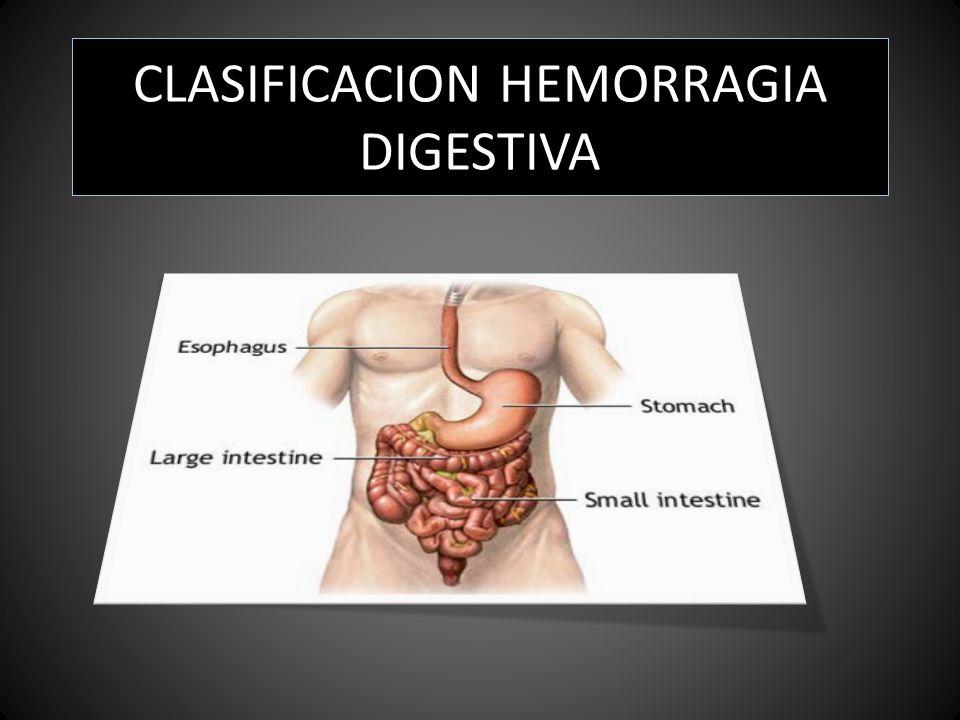 CLASIFICACION HEMORRAGIA DIGESTIVA