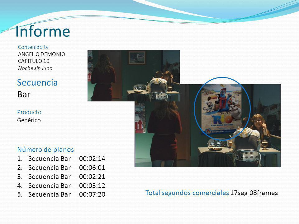Informe Secuencia Bar Número de planos Secuencia Bar 00:02:14