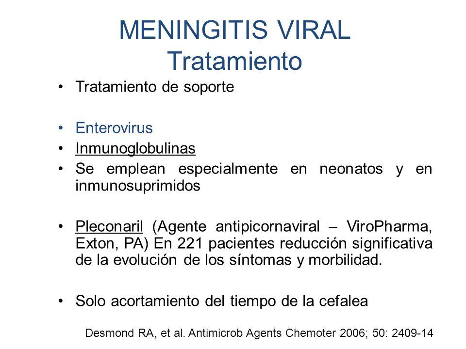 MENINGITIS VIRAL Tratamiento