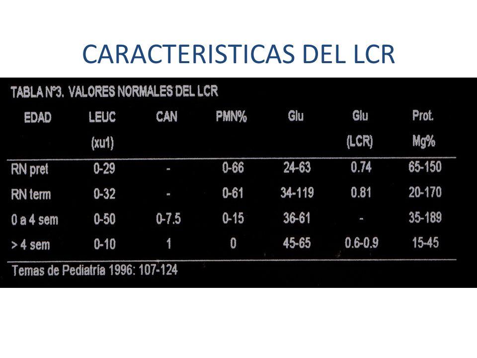 CARACTERISTICAS DEL LCR