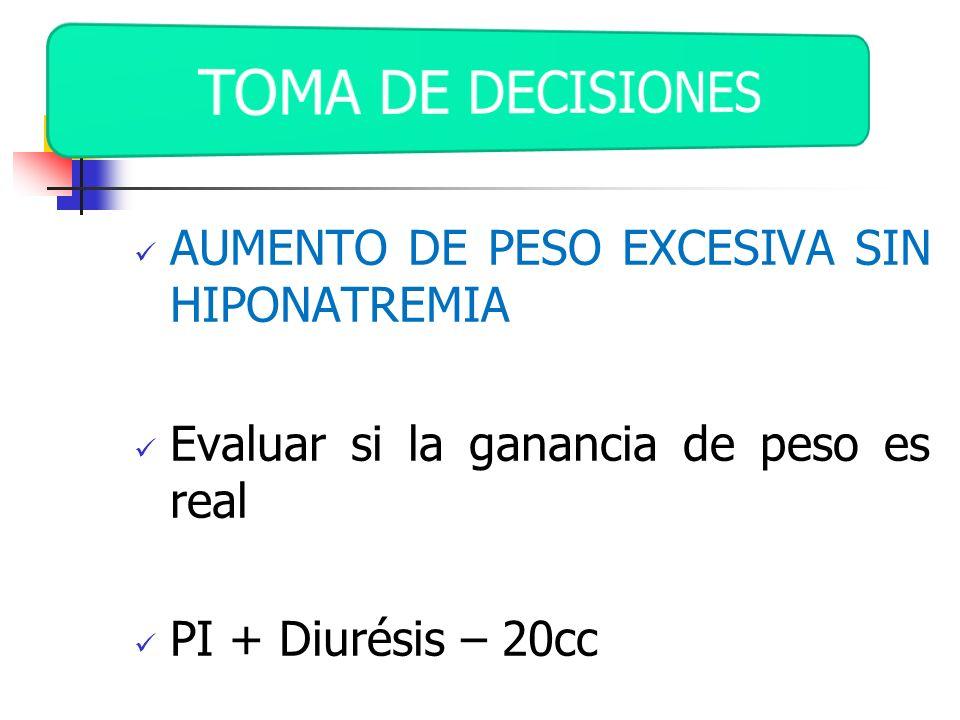 TOMA DE DECISIONES AUMENTO DE PESO EXCESIVA SIN HIPONATREMIA