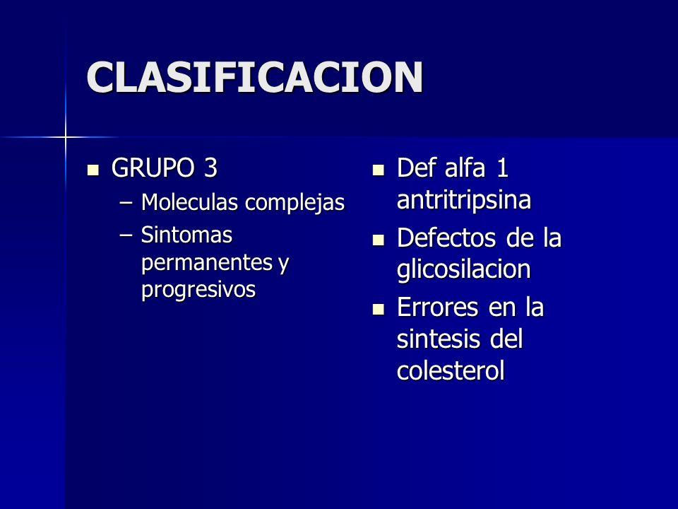 CLASIFICACION GRUPO 3 Def alfa 1 antritripsina