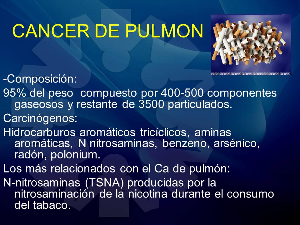 CANCER DE PULMON -Composición: