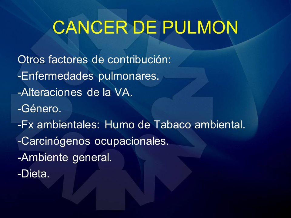 CANCER DE PULMON Otros factores de contribución: