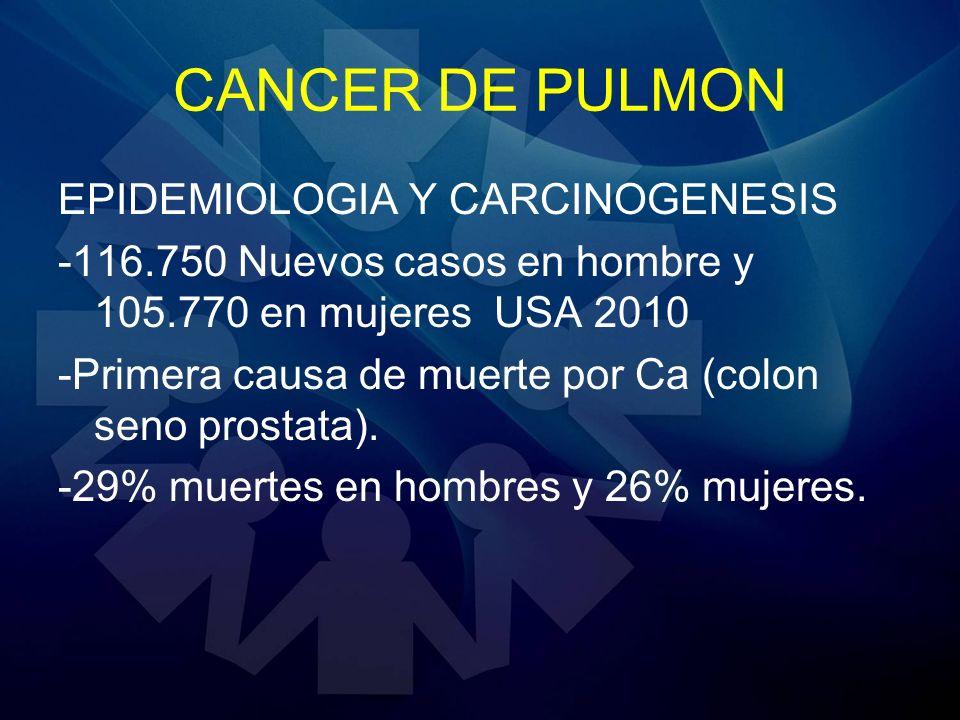 CANCER DE PULMON EPIDEMIOLOGIA Y CARCINOGENESIS