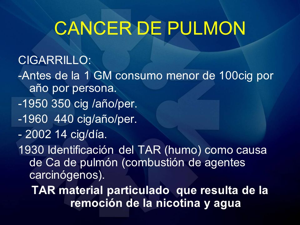 CANCER DE PULMON CIGARRILLO: