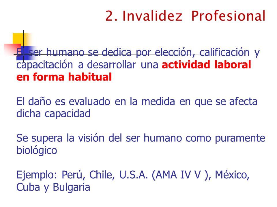 El ser humano se dedica por elección, calificación y capacitación a desarrollar una actividad laboral en forma habitual
