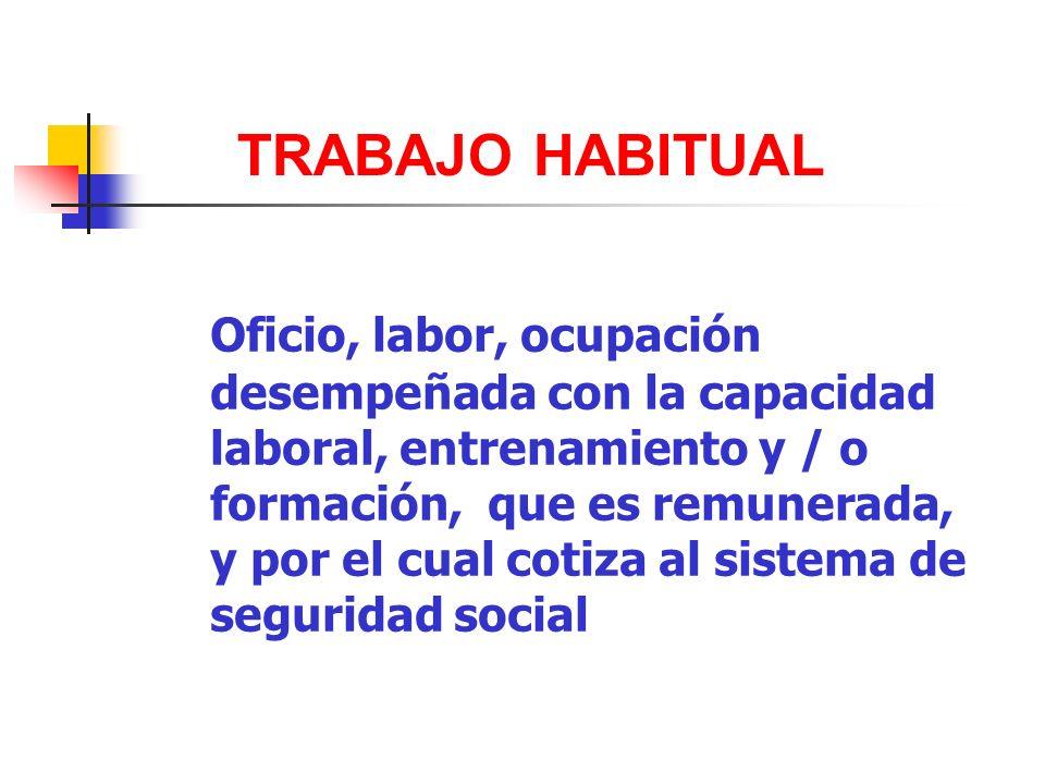 TRABAJO HABITUAL