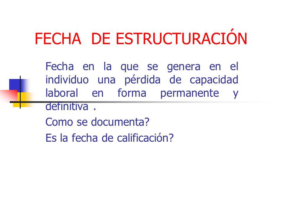 FECHA DE ESTRUCTURACIÓN