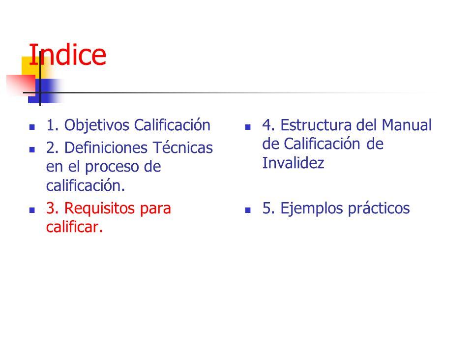 Indice 1. Objetivos Calificación