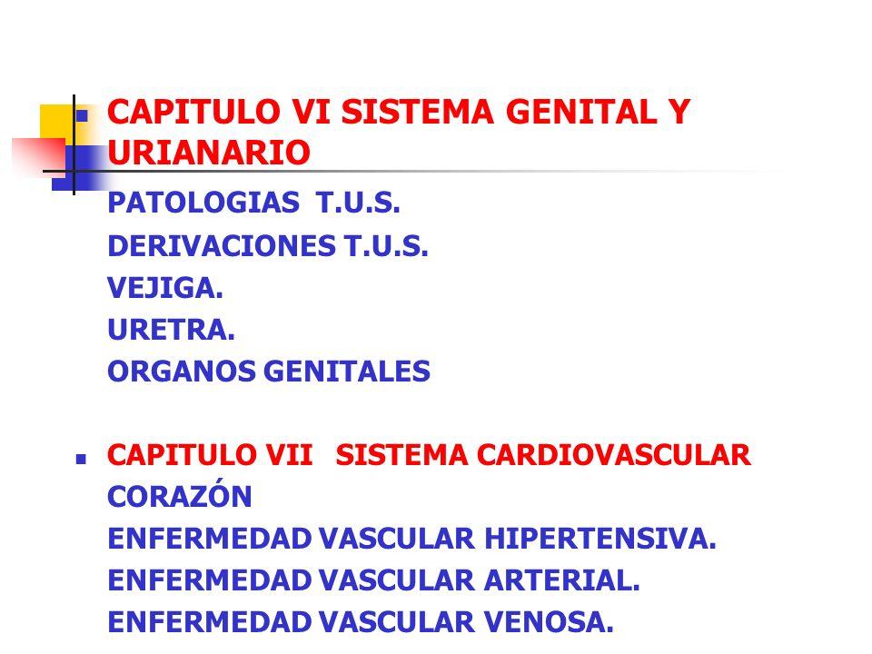 CAPITULO VI SISTEMA GENITAL Y URIANARIO PATOLOGIAS T.U.S.