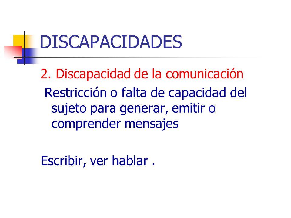 DISCAPACIDADES 2. Discapacidad de la comunicación
