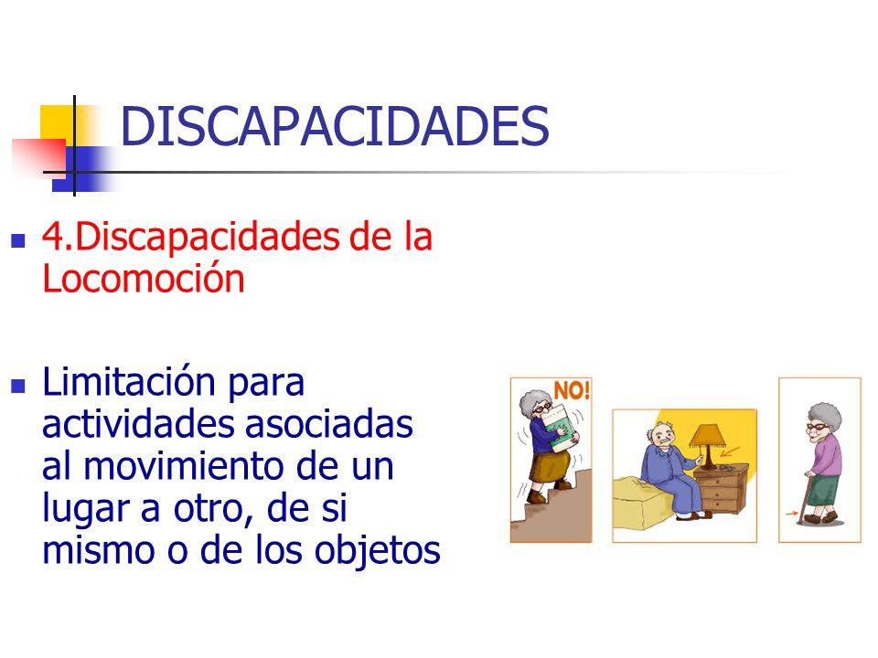 DISCAPACIDADES 4.Discapacidades de la Locomoción