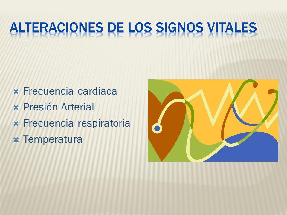 ALTERACIONES DE LOS SIGNOS VITALES