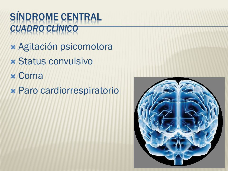 Síndrome Central Cuadro Clínico