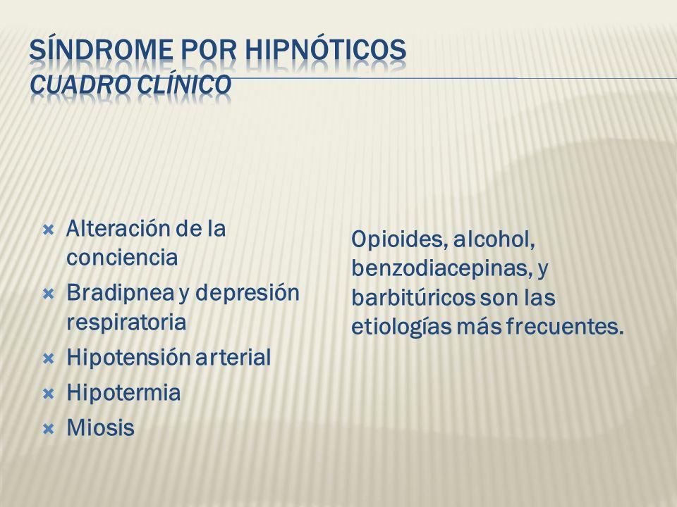 Síndrome por hipnóticos Cuadro Clínico