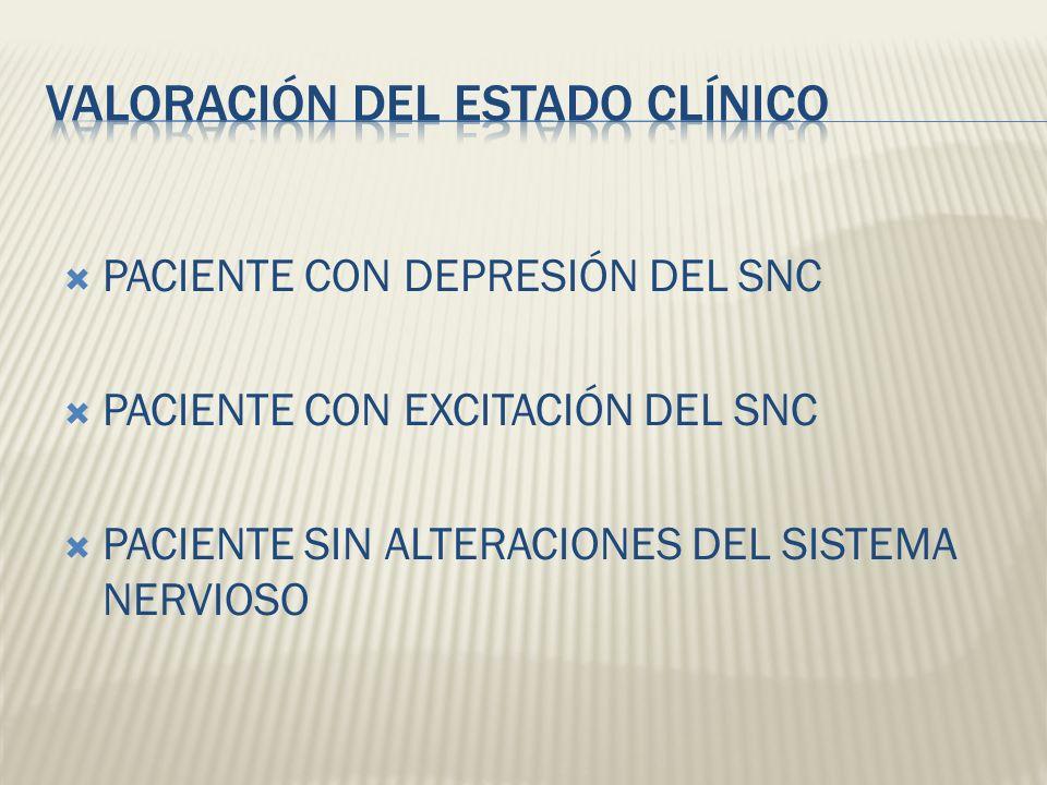 VALORACIÓN DEL ESTADO CLÍNICO