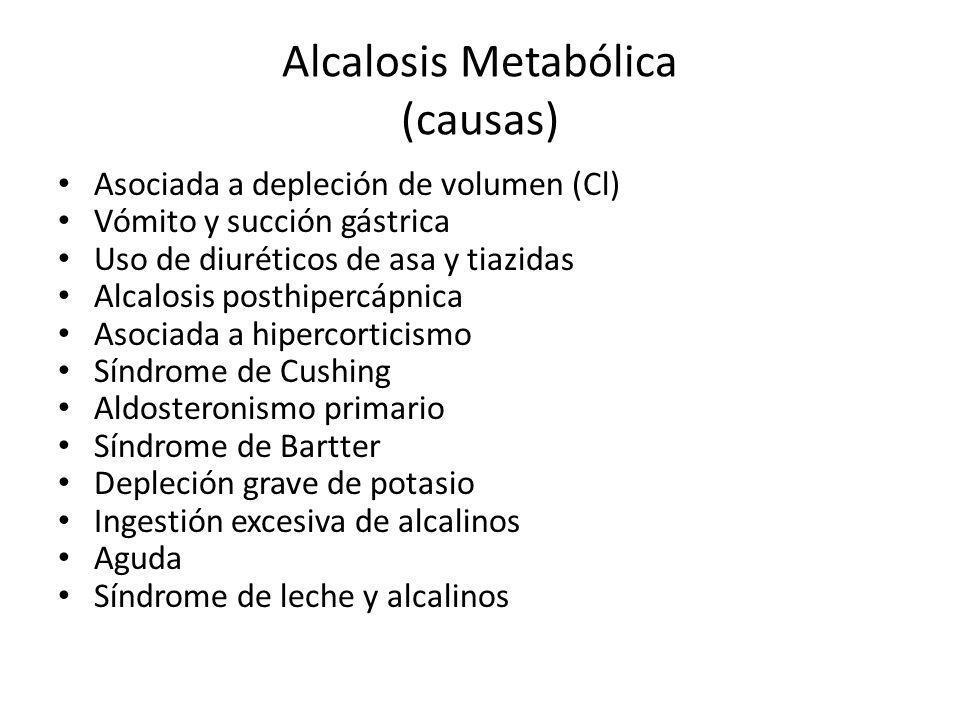 Alcalosis Metabólica (causas)