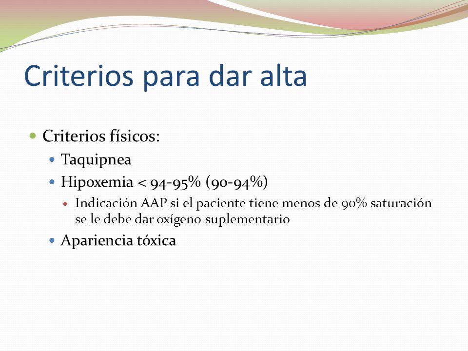 Criterios para dar alta