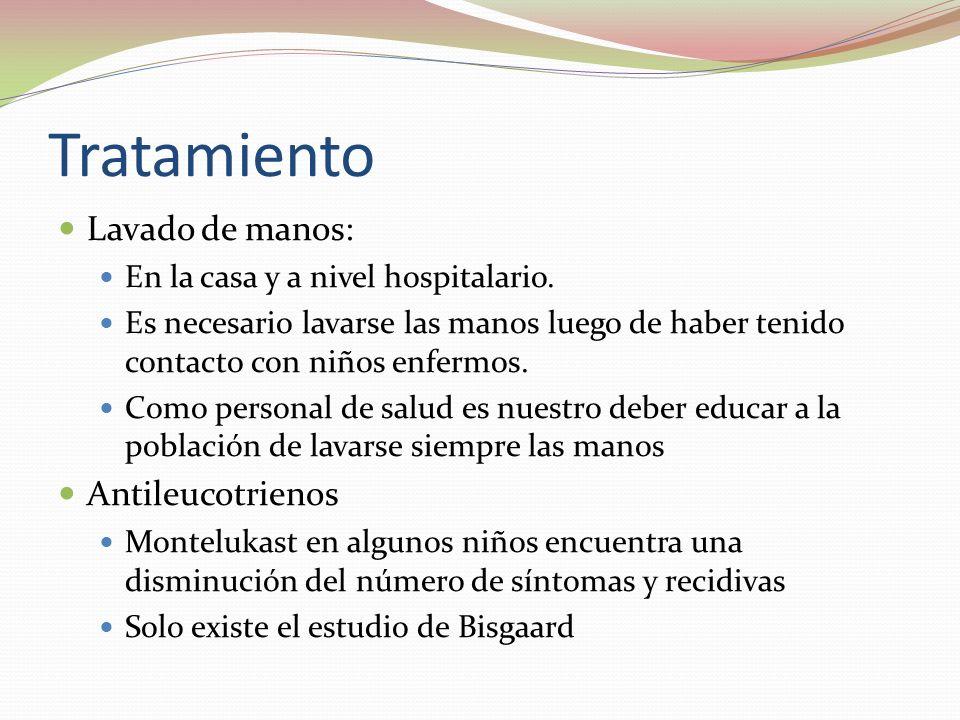 Tratamiento Lavado de manos: Antileucotrienos