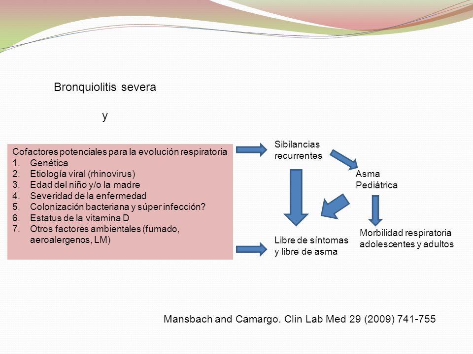 Bronquiolitis severa y