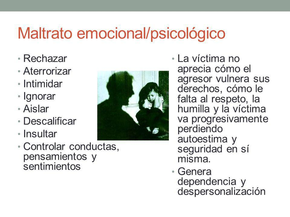 Maltrato emocional/psicológico