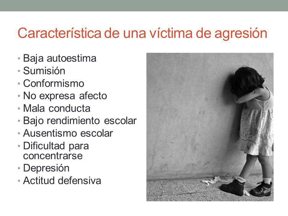 Característica de una víctima de agresión