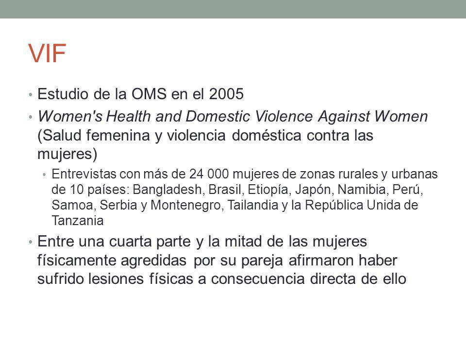 VIF Estudio de la OMS en el 2005