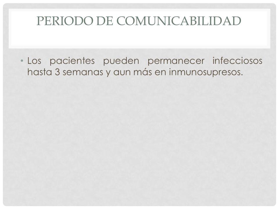 PERIODO DE COMUNICABILIDAD