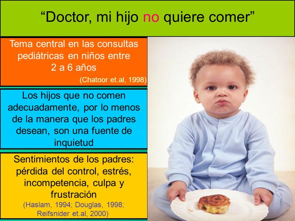 Doctor, mi hijo no quiere comer