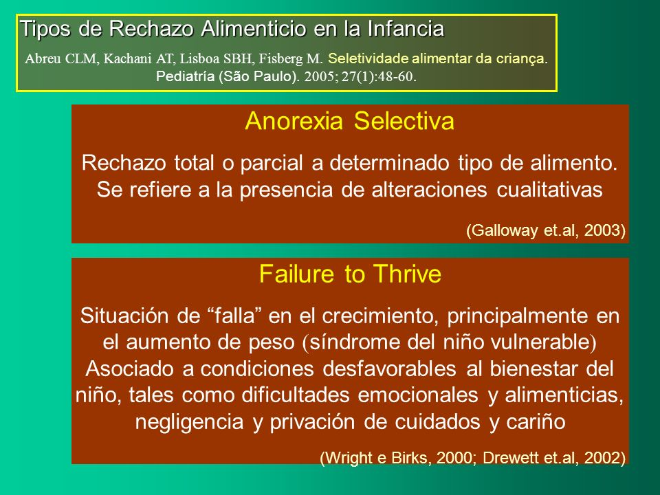 Anorexia Selectiva Failure to Thrive