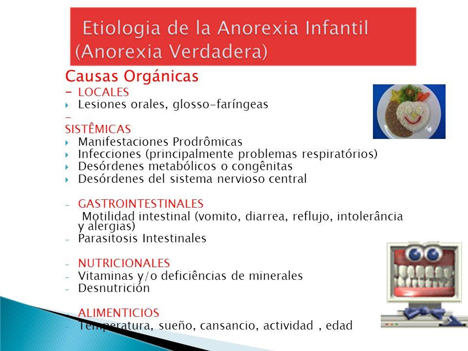 Causas Orgánicas - LOCALES Lesiones orales, glosso-faríngeas -