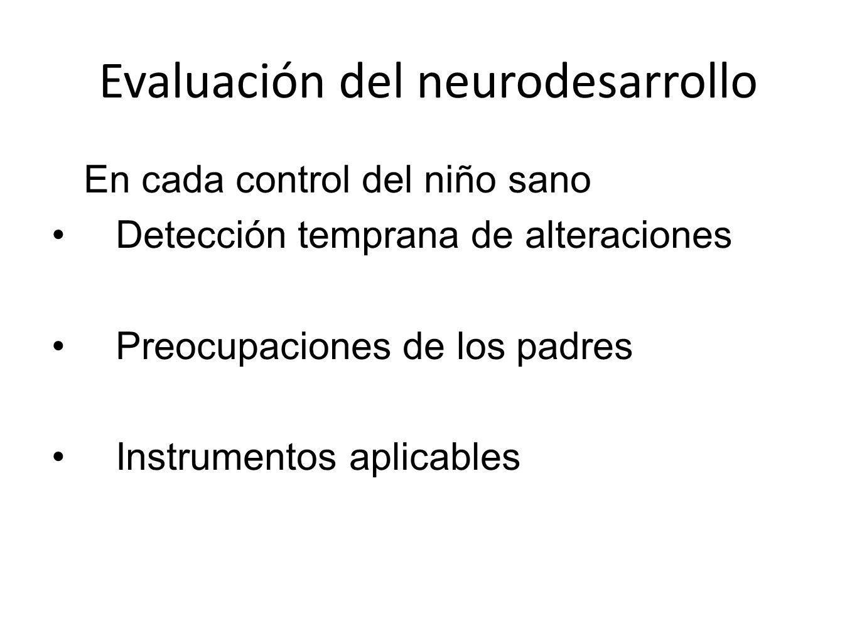 Evaluación del neurodesarrollo
