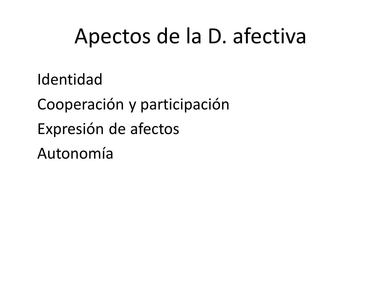 Apectos de la D. afectiva