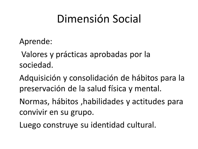 Dimensión Social Aprende: