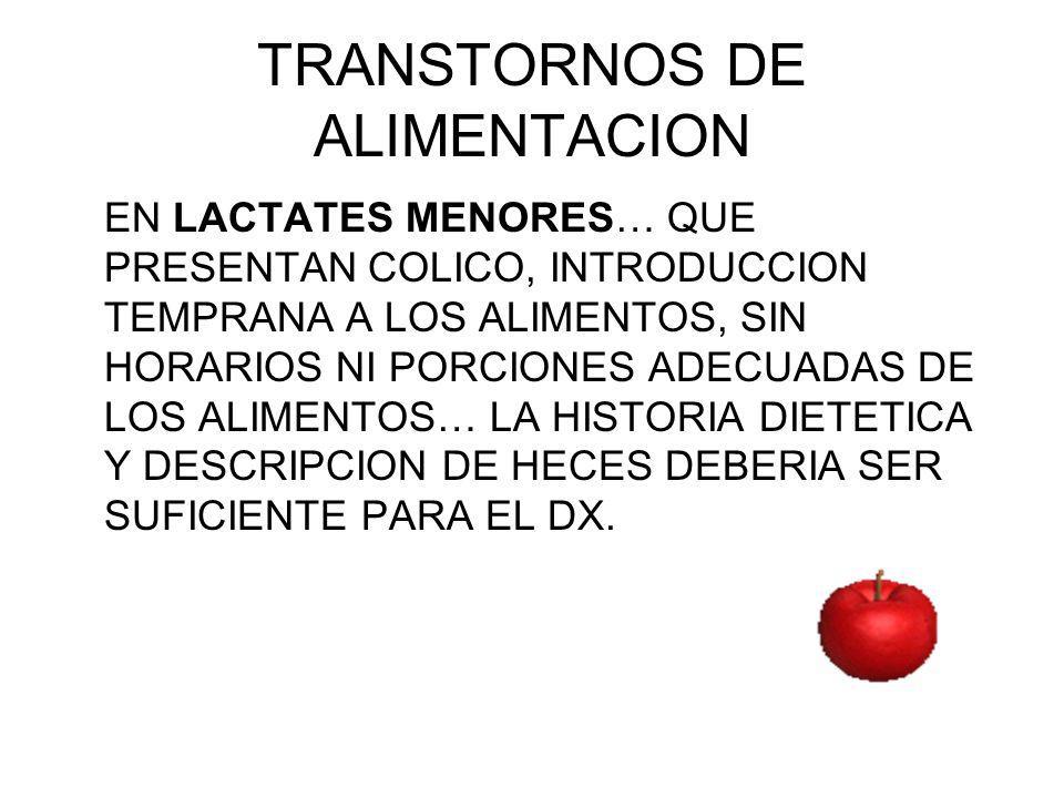 TRANSTORNOS DE ALIMENTACION