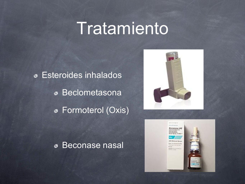 Tratamiento Esteroides inhalados Beclometasona Formoterol (Oxis)