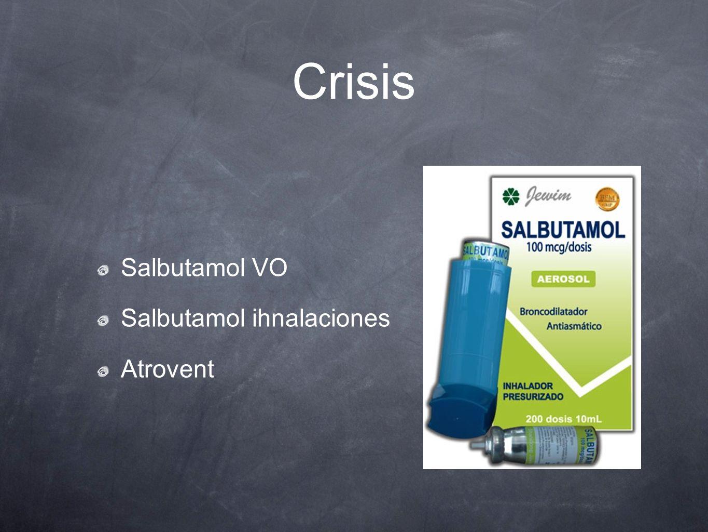 Crisis Salbutamol VO Salbutamol ihnalaciones Atrovent