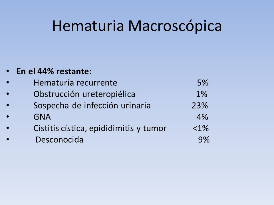 Hematuria Macroscópica