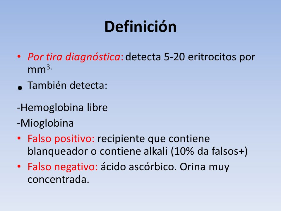 Definición También detecta: