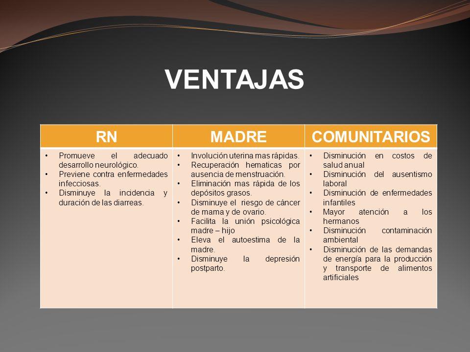 VENTAJAS RN MADRE COMUNITARIOS