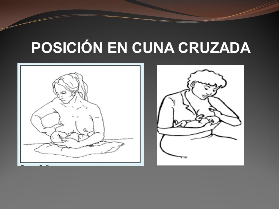 POSICIÓN EN CUNA CRUZADA