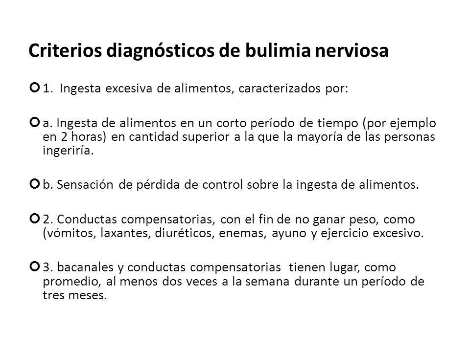 Criterios diagnósticos de bulimia nerviosa
