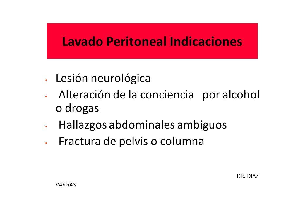 Lavado Peritoneal Indicaciones