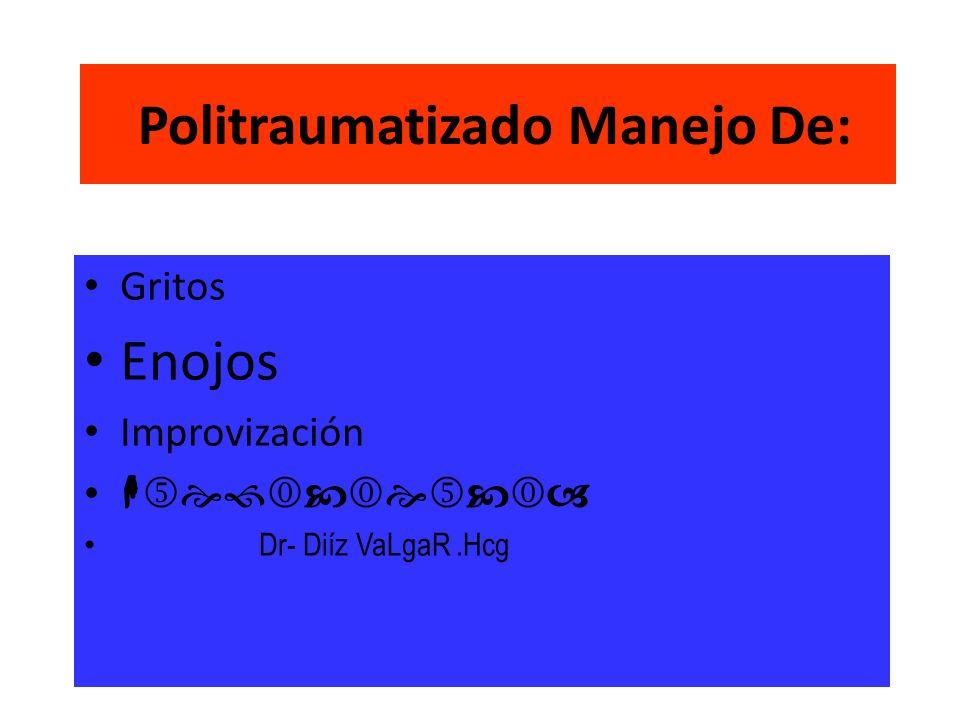 Politraumatizado Manejo De: