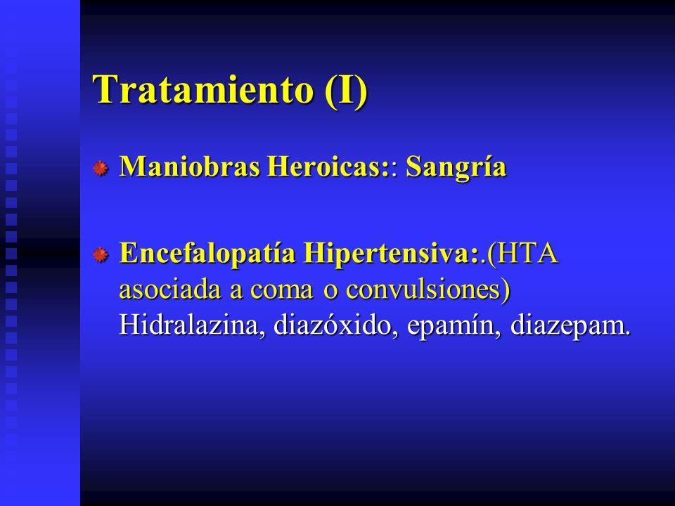 Tratamiento (I) Maniobras Heroicas:: Sangría