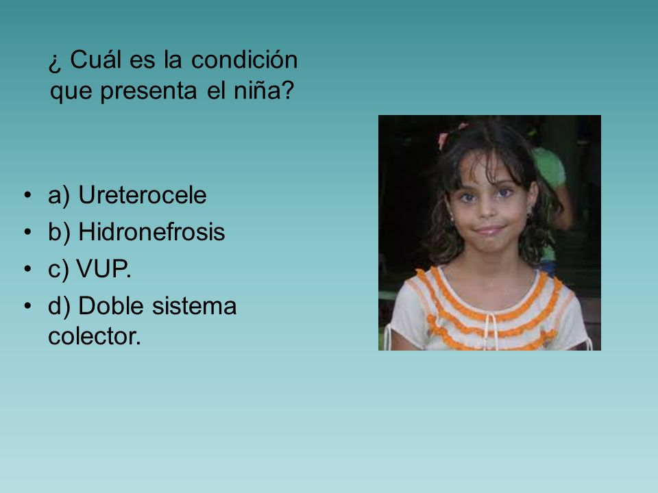 ¿ Cuál es la condición que presenta el niña